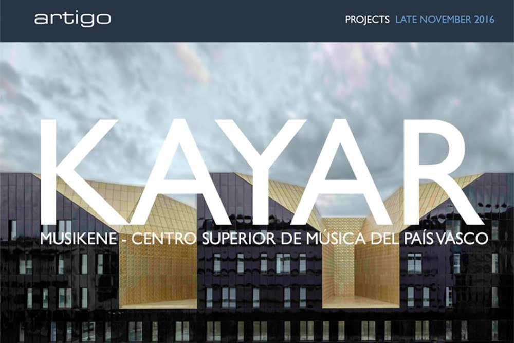 Artigo rubber flooring installs Kayar at the Musikene in San Sebastian
