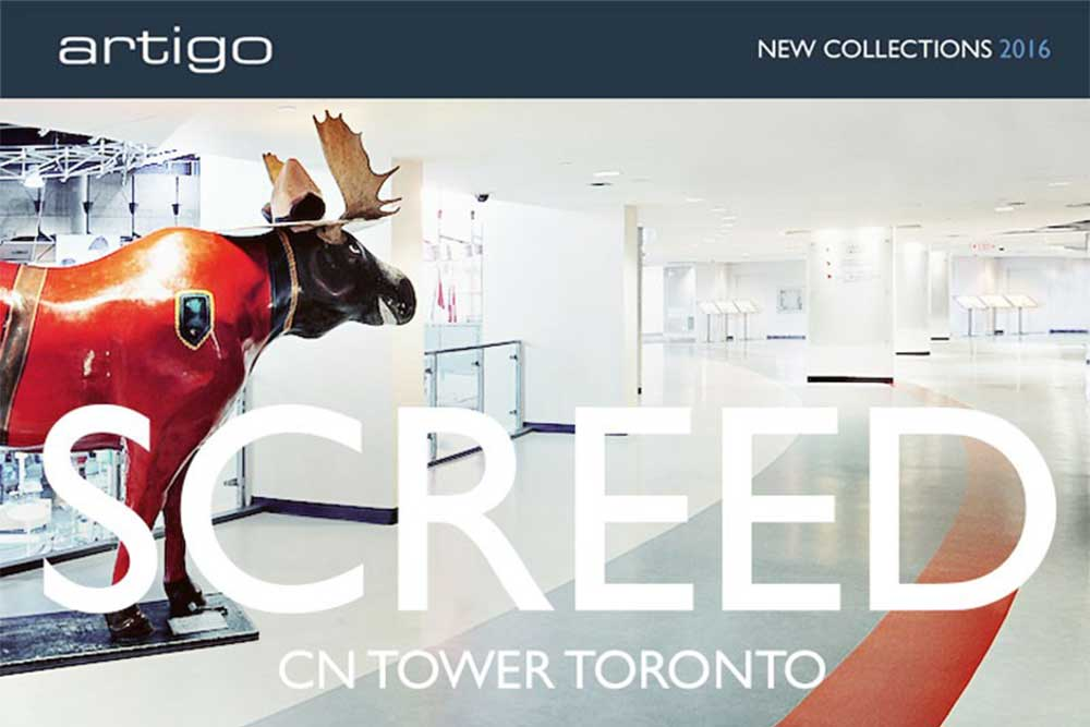 Artigo furnishes CN tower with Screed rubber flooring available from Chroma Global Flooring