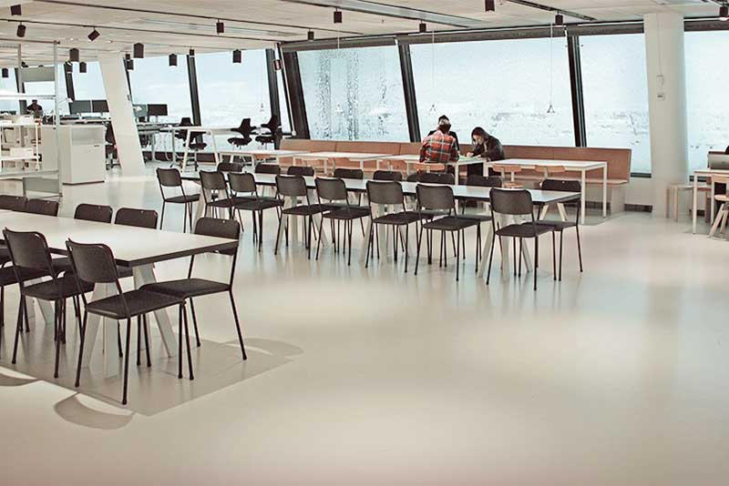 Rubber flooring provided by Chroma Global brand partner Artigo for world oldest firm of architects