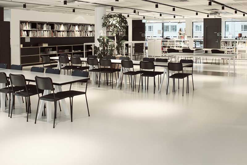 Chroma Global can provide Artigo ND/UNI LL rubber flooring as used by Tenbom Architects in their Stockhol offices